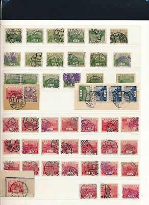 Japan. 1926 - COLLECTION on STOCKPAGES - Many fine TOWN CANCELATIONS