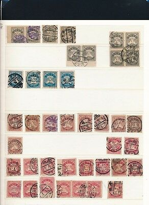 Japan. 1923 - COLLECTION on STOCKPAGES - Many fine TOWN CANCELATIONS
