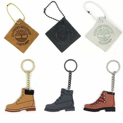 Timberland Boot Rubber Key Chain & Leather Boot Tag (Great Christmas Gift)