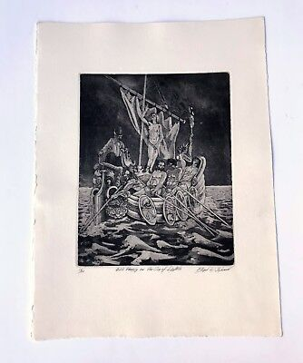 Fine Art Etching Signed/Numbered by Laguna Native American Artist Floyd Solomon