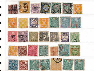 Japan. Stockpage with revenue stamps