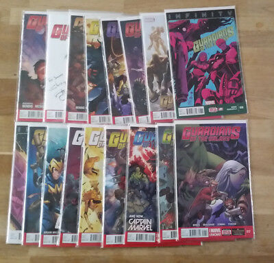 Guardians of the Galaxy (2013 3rd Series) #0-17 - 18 Comics in Lot - #1's Signed