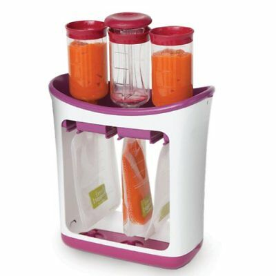 Infantino Squeeze Station Fresh Squeezed Baby Food Maker&Storage Feeding Pouches