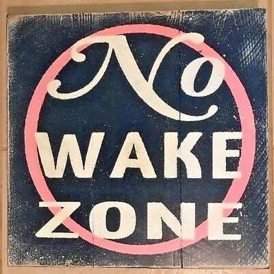 Lg New NO WAKE ZONE Pink Baby Sleeping Wood Pallet Room Sign Hand Crafted Rustic