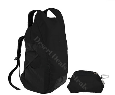 NWT ChicoBag Black DayPack Expandable BackPack Travel Tote Compact and Reusable