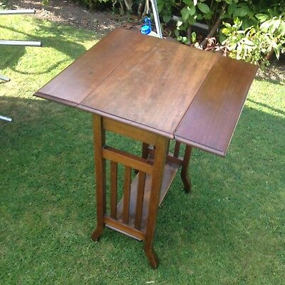 edwardian mahogany drop/leaf occasional table