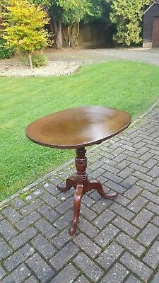 Georgian George III Mahogany Tilt Top Wine Occasional Table
