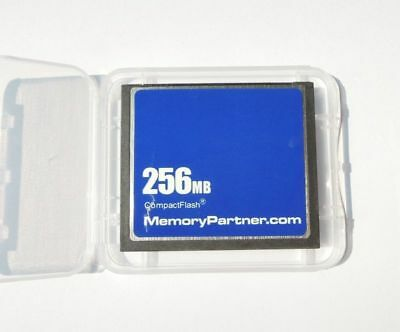 256MB CompactFlash Standard CF Memory Card W/Case MemoryPartner 256 MB New