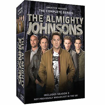 Almighty Johnsons Complete Season 1-3 Series DVD Set TV Show Collection Episodes