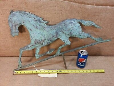 Antique Copper Running Horse Weather Vane Topper ( #1)