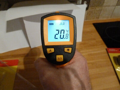Infrared Thermometer with -50°C to 380°C Range Duratool  D03055