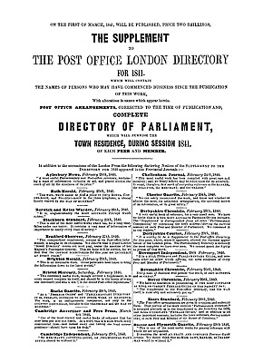 Post Office London Directory 1841 on pdf DVD
