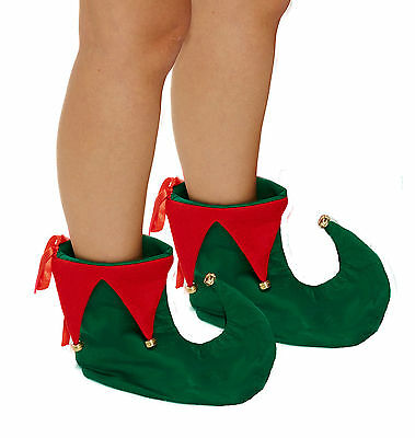 Unisex ELF BOOTS shoes with Bells COSTUME PARTY ACCESSORY (one size fits most)