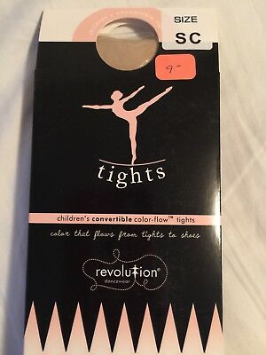 Child Dance Tights CONVERTIBLE Revolution Tights Color-Flow, Classic PK SM child