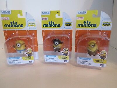 Despicable Me Minions Eye Matie, Bored Silly Stuart & Egyptian Minion Lot of 3