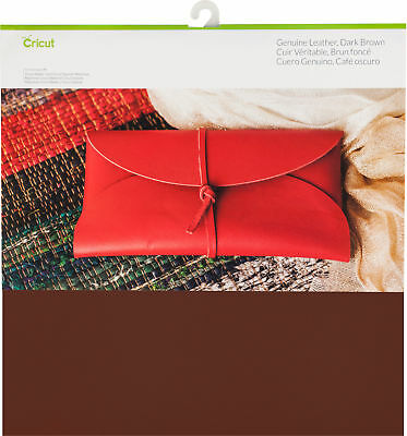 "Cricut Genuine Leather 12""X12""-Dark Brown, Part 2004016, by Cricut, Scrapbooking"