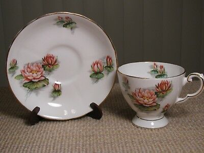 Vintage Tuscan Fine Bone China Birthday Flowers Pedestal Tea Cup & Saucer