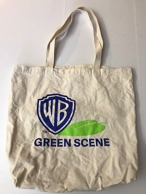 Warner Brothers Studios Wb Bros Tote Bag Green Scene Reusable Shopping Eco (H8)
