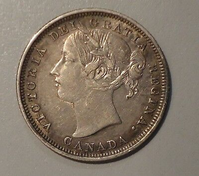 1858 Canadian 20 Cents Extremely Fine  - Key Coin - Only 730,392 Mintage!