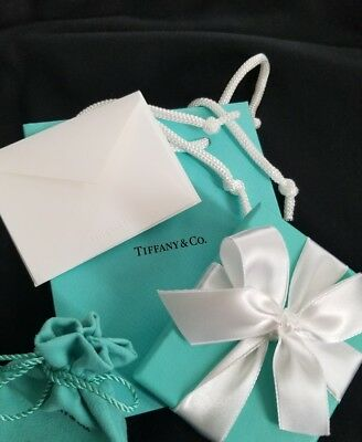 TIFFANY Co Complete Empty Blue Signature Box And Gift Set NEW