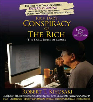 Rich Dad's Conspiracy of the Rich - the 8 New Rules of Money Audiobook – 8 CDs