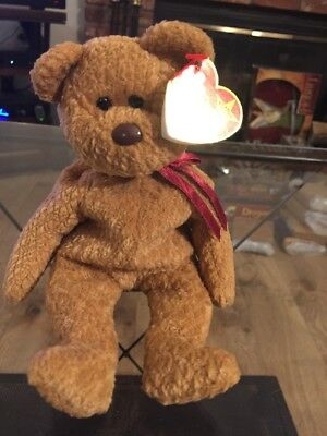 Ty Beanie Babies Curly The Bear Plush Stuffed Animal Toy 1996 Retired
