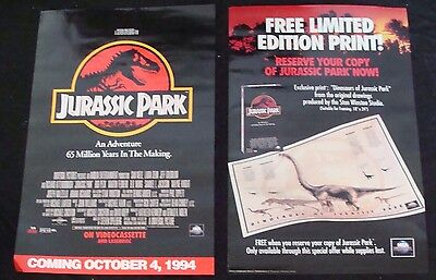 jurassic park video store movie poster cad picclick ca. Black Bedroom Furniture Sets. Home Design Ideas