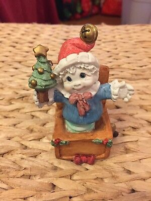 RARE 11326 CHRISTMAS SUPRISE 2000 Cherub Angel FigurineJack in a Box  Dreamsicle