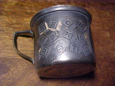 Adorable Early Childrens Cup Featuring Alphabet *Silver?*