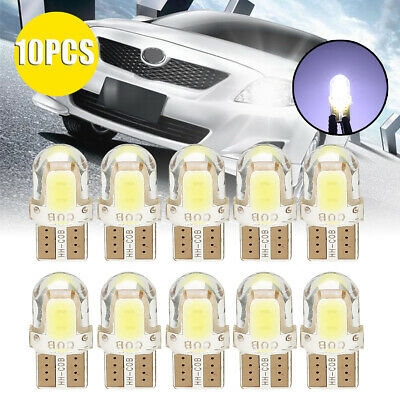 10pcs T10 194 168 W5W COB LED Auto License Plate Dome Map Light Bulb White