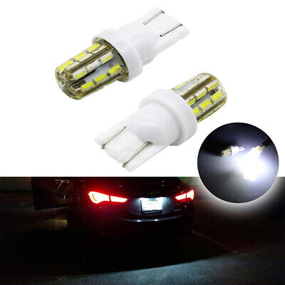2pcs T10 168 194 2825 24SMD LED Car Auto License Plate Number Light Bulb White
