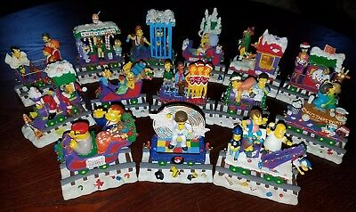 The Simpsons Hamilton Christmas Express Holiday Train Lot of 14
