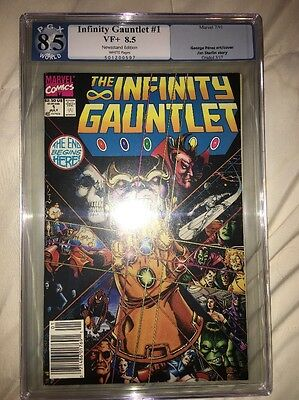 Infinity Gauntlet #1 - CGC 8.5  White Pages - Thanos - 1991 White Pages HOT BOOK