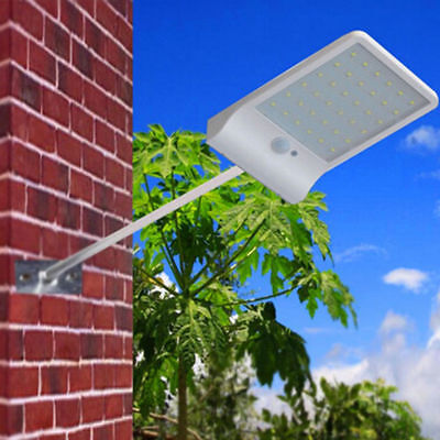 36 LED Solar Power PIR Motion Sensor Wall Lamp Garden Outdoor Waterproof Light