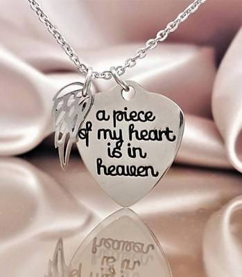"""Silver """"A Piece Of My Heart Is In Heaven"""" Charity Rescue"""