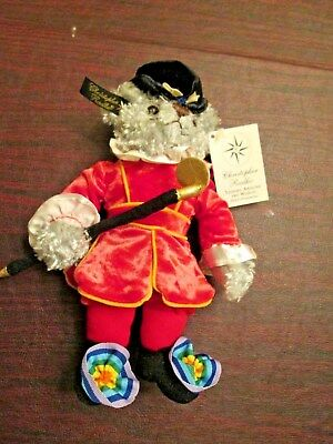 Christopher Radko Rare Plush Beefeater Teddy Bear With Tags Velvet Costume