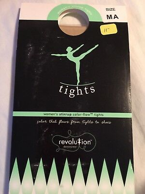 Revolution Women's Stirrup Color Flow Tights,  adult medium, dark tan