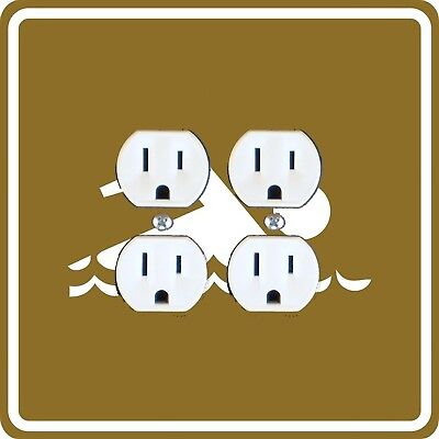 Swimming Sign Double Duplex Outlet Plate Cover
