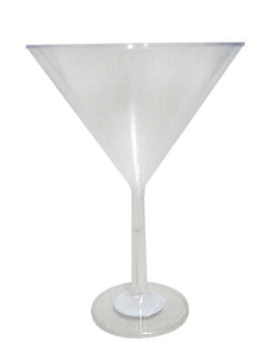 Clear Plastic Candy Buffet Jumbo Martini Glass (24.5cm tall - approx 339mL)