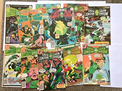 "Lot ""Green Lantern"" DC Bronze Age Comic Books 11 issues! 8.5 VF+. 1976-79"