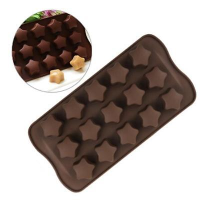 15 Cavity Star Silicone DIY Chocolate Candy cake Baking Mould Mold Ice Cube Tray