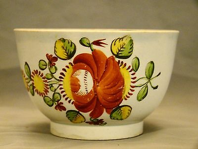 Early Staffordshire King's Rose Pearlware Tea Bowl Handleless Cup c.late18th