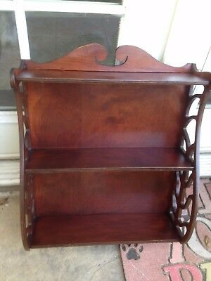 Antique Vintage Mahogany Wall Shelf