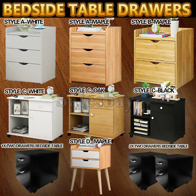 Bedside Table Drawers Tables Nightstand Unit Cabinet Storage Lamp Chest Table