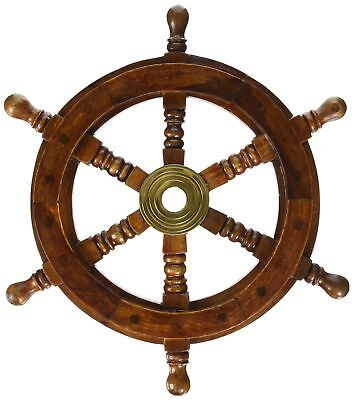"""12"""" Pirate Ship Boat Steering Wheel Pirate Vintage Decor Wood Wall Decor Wooden"""