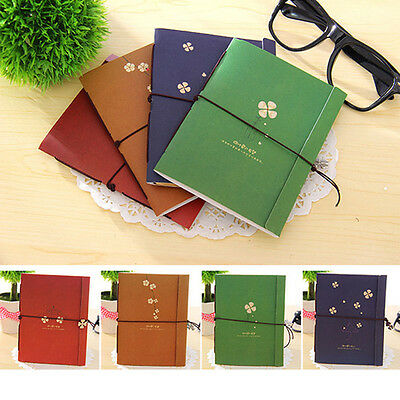 Notebook Diary String Leaf Travel Paper Journal Book Sketchbook Writing Pocket