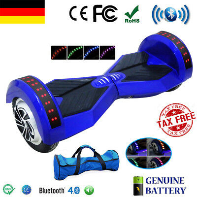 8 zoll bluetooth hoverboard elektro scooter e balance roller e scooter tasche picclick de. Black Bedroom Furniture Sets. Home Design Ideas