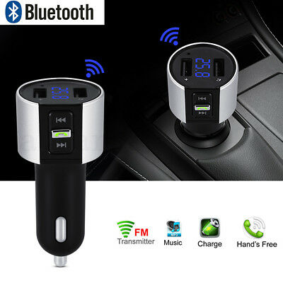 Wireless Bluetooth FM Transmitter Car MP3 Music Player Dual USB LCD Charger Kit