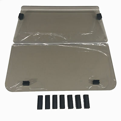 Windshield For Club Car Ds Post 2000 Golf Cars. 2 Piece Fold Down. 4Mm Acrylic