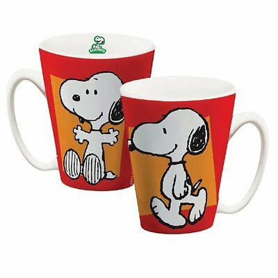 snoopy boxed conical ceramic mug